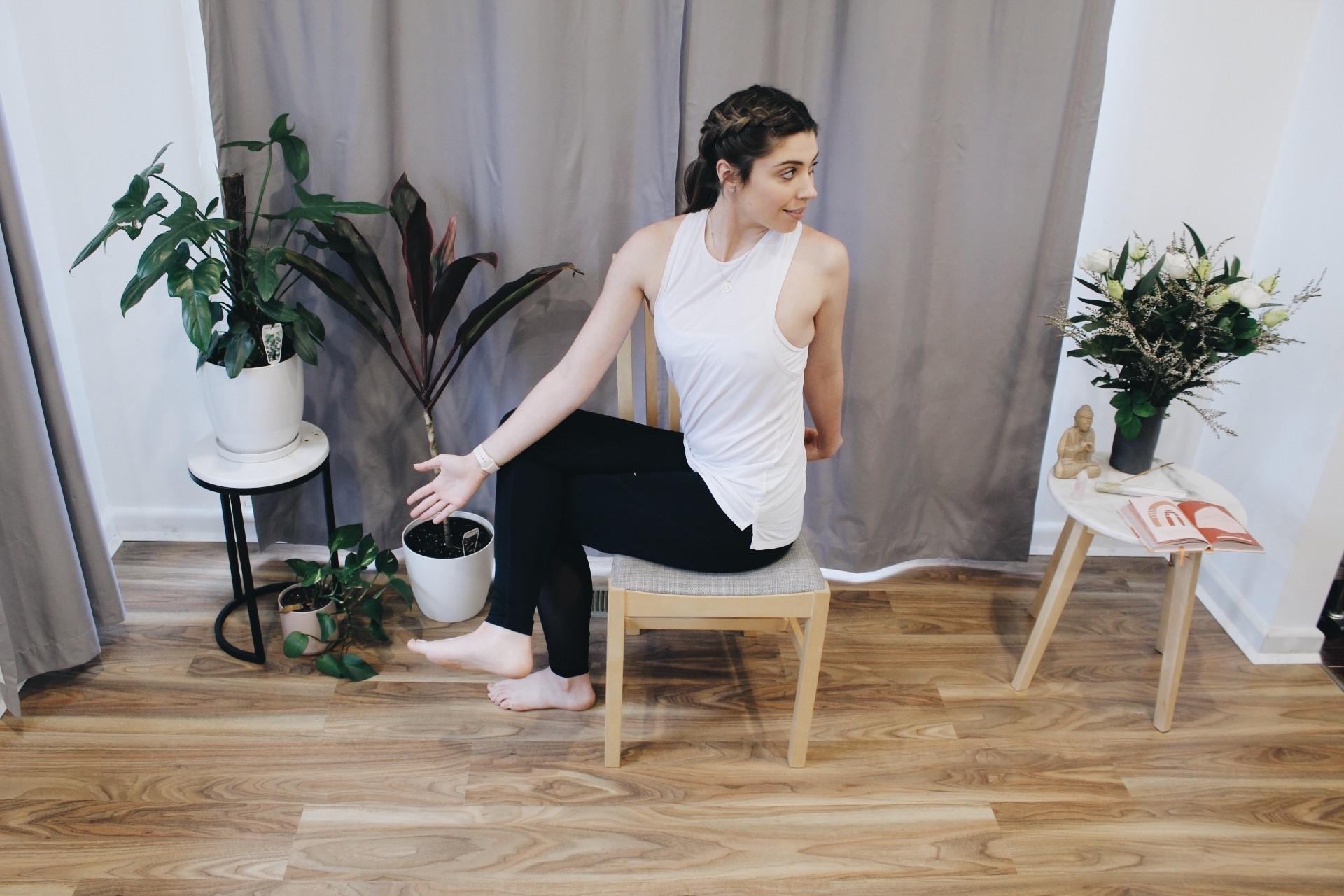 Desk Yoga with Three Point Yoga